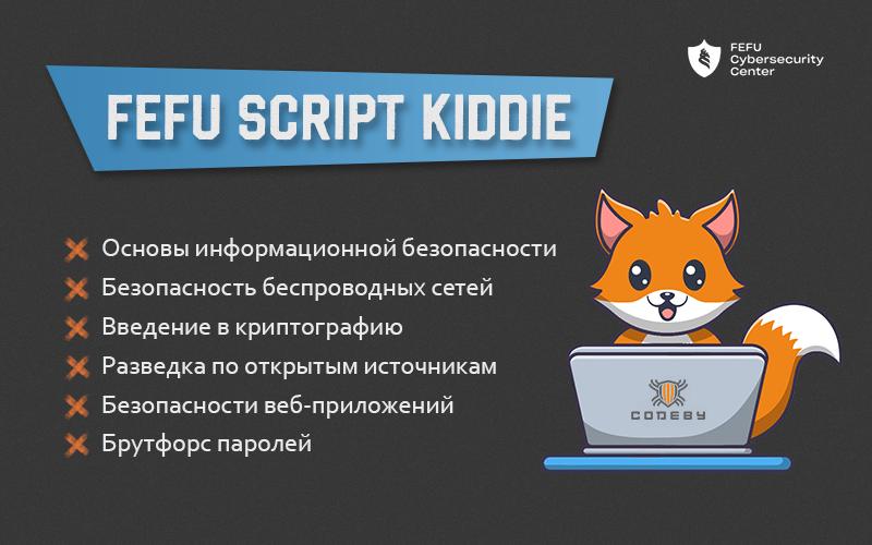 """Курсы для школьников """"FEFU Script Kiddie"""""""
